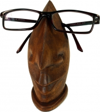 wooden spectacle stand - dark brown