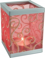 Tealight glass with ornaments