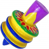 Colourful wooden spinning top large - Model 1