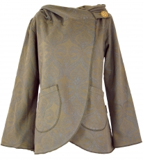 Cape Boho wrap jacket - brown