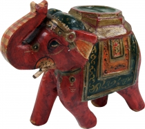 Decoration elephant from India, painted Indian wooden elephant, s..