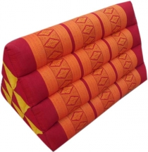Triangle Thai pillow, Triangle pillow, Kapok - red/orange