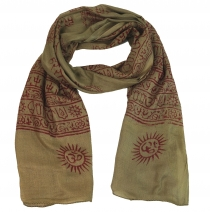 Thin Baba cloth, Benares Lunghi - brown