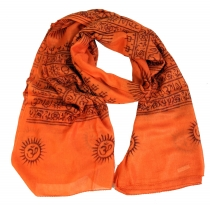 Thin Baba cloth, Benares Lunghi - orange