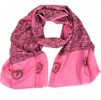 Thin Baba cloth, Benares Lunghi - pink