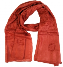 Thin Baba cloth, Benares Lunghi - rusty orange