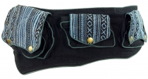 Ethno fanny pack, festival fanny pack - blue