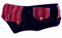 Ethno fanny pack, Festival fanny pack - bordeaux