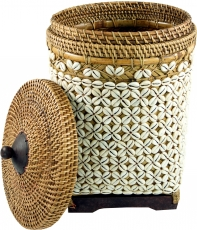 Exclusive exotic basket with lid, storage basket