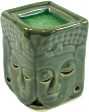 Exotic Scent Lamp, Aroma Lamp Ceramic Buddha - green