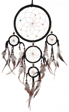 Dreamcatcher with semi-precious stones - black