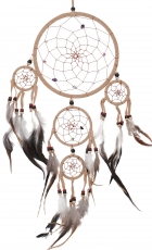 Dreamcatcher with semi-precious stones - beige