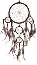 Dreamcatcher with semi-precious stones - brown