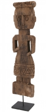 wooden figure, sculpture, primitive style carving