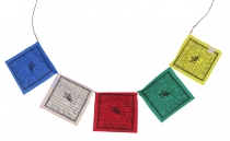 1 piece prayer flags (Tibet) with 5 pennants 13*11 cm, of cotton ..