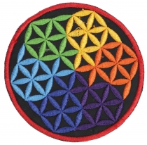 Patches (patches) Flower of life - rainbow