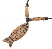 Ethno Necklace, Tibet Necklace - Fish