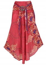 Boho summer skirt, maxi skirt hippie chic - red