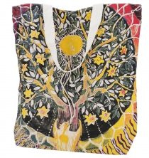 Mirror Shopper Bag, Shopping Bag, Beach Bag - Tree of life