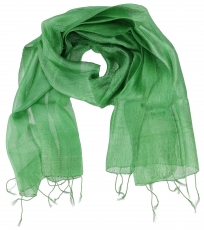 Silk scarf,Thai scarf made of silk - green