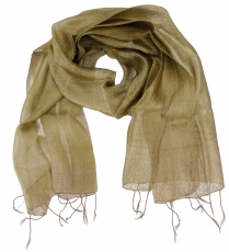 Silk scarf,Thai scarf made of silk - khaki