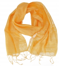 silk scarf,Thai scarf made of silk - golden yellow