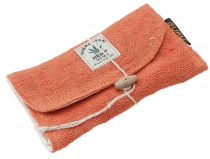 Hemp tobacco pouch, tobacco pouch, rotating pouch - rust-orange