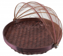 Fly protection fruit basket in 3 sizes - dark brown