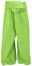 Thai fisherman pants in cotton, wrap pants, yoga pants - M/L lemo..