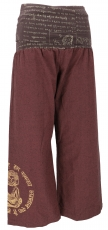Pants Buddha Goa wellness pants yoga pants hippie pants - coffee