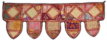 Oriental wall hanging, Indian Toran, pennant tapestry, wall decor..