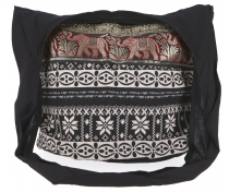 Sadhu Bag, shoulder bag, hippie bag Ikat - black patterned