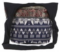 Sadhu Bag, shoulder bag, hippie bag Ikat - blue/white patterned