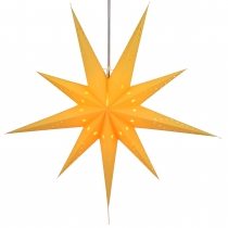 Foldable Advent illuminated paper star, Poinsettia 80 cm - Lyra y..