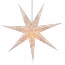Foldable Advent illuminated paper star, Poinsettia 80 cm - Arwen