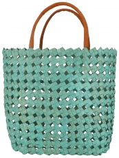 Basket bag in three sizes - turquoise