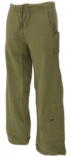 Goa pants, ethnic pants, outdoor pants - olive
