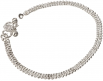 White metal foot chain 20
