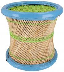 Colourful round reed wicker stool in different colours - approx. ..