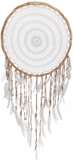 Big exclusive dreamcatcher - white 50 cm