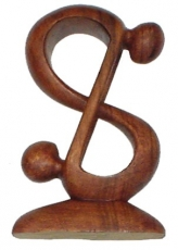 Wooden figure, statue, decoration object Feng Shui - `Acrobat`