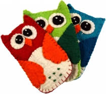 Felt mobile phone pocket owl