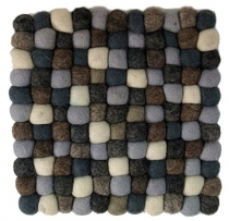 Felt coaster, square - grey 20*20 cm
