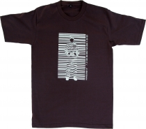 Fun T-Shirt - Barcode/brown