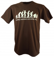 Fun T-Shirt `Evolution` - brown