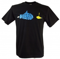 Fun T-Shirt - fish against submarine