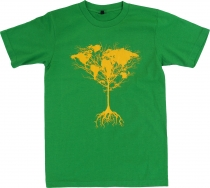 Fun T-Shirt `World tree` - green