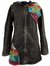 Goa Patchwork Jacket - black