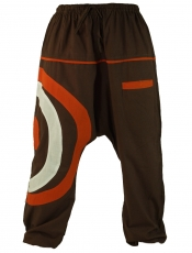 Goa harem pants, Aladdin`s trousers - coffee
