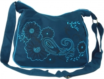 Shoulder Bag, Hippie Bag, Goa Bag - petrol/turquoise